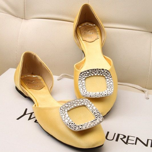 roger-vivier-ballerina-with-crystal-buckle-flats-yellow