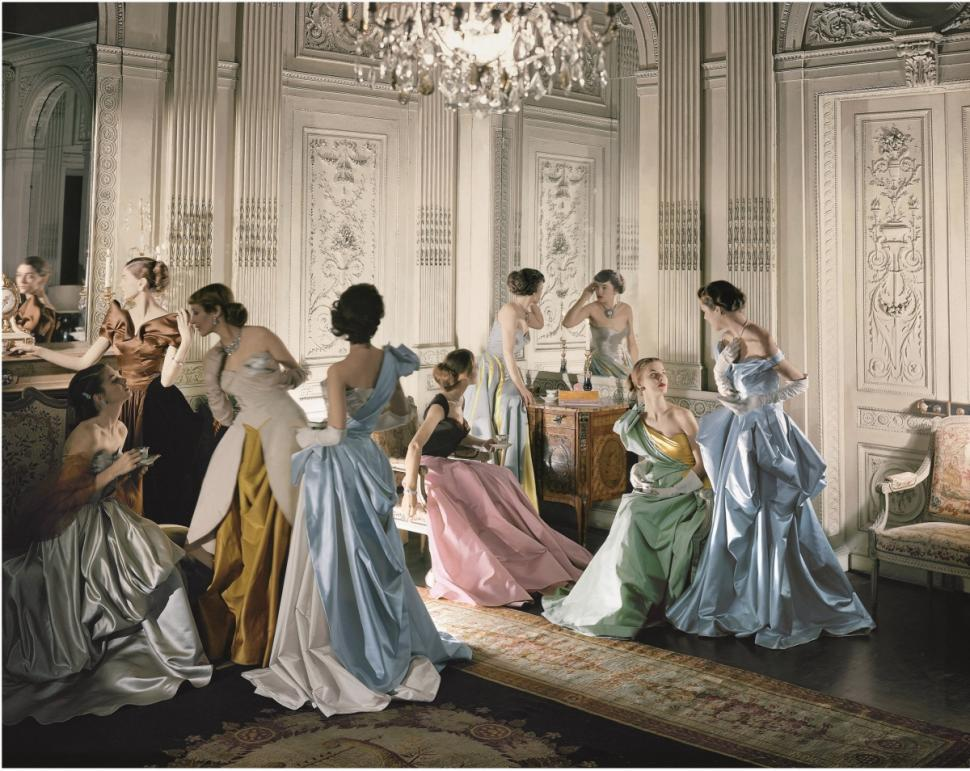 models-wearing-charles-james-gowns-french-company